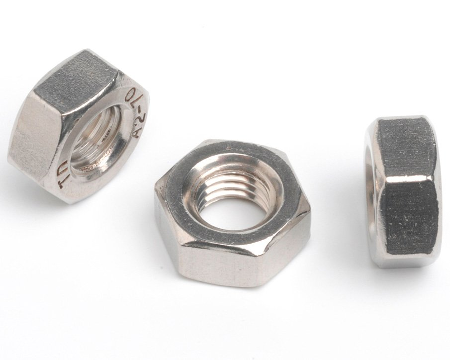 "1.3/4""-5 HEXAGON FULL NUT ANSI B18.2.2 A4 ST/ST"