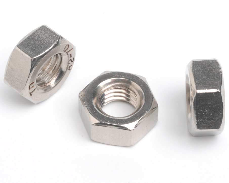 "1.3/8""-12 HEXAGON FULL NUT ANSI B18.2.2 A2 ST/ST"