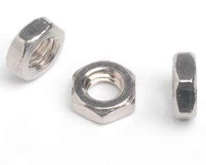 0-80 X 1/8AF X 3/64 SMALL PATTERN HEXAGON NUT A2 ST/ST