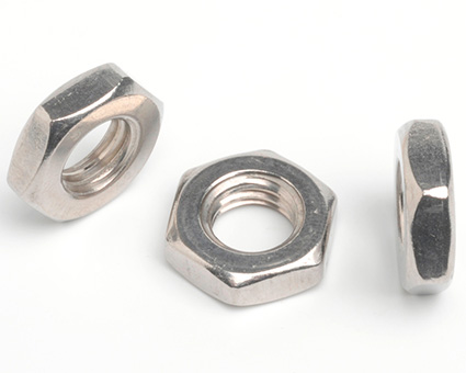 Stainless Steel Hexagon Thin Nuts