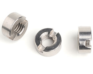 M2.5 SLOTTED ROUND NUT DIN 546 A1 ST/ST
