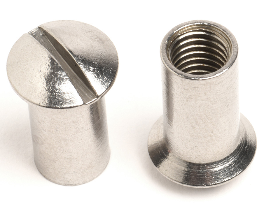 M8 X 20 SLOT RAISED CSK SLEEVE NUT A4 ST/ST