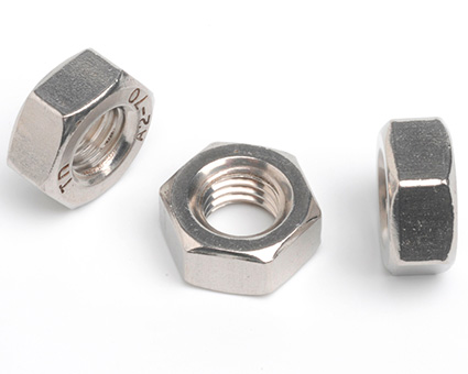 Stainless Steel Fine Thread Hexagon Full Nuts ISO 8673