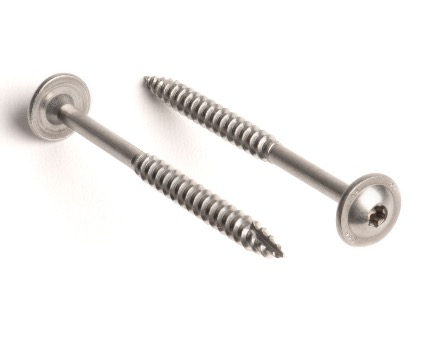 Stainless Steel TX Flanged Button Timber Screws Cutting Tip