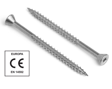 Stainless Steel Square Drive Countersunk Woodmaster Decking Screws